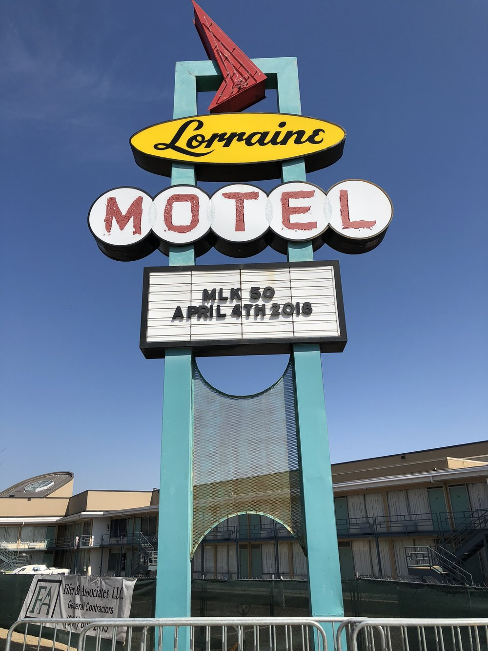 The Lorraine Motel sign