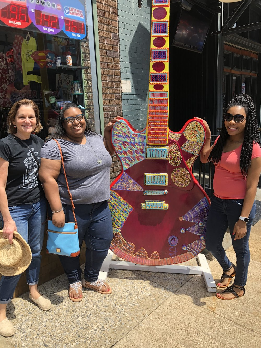 Susan, Noelle, and I on Beale St