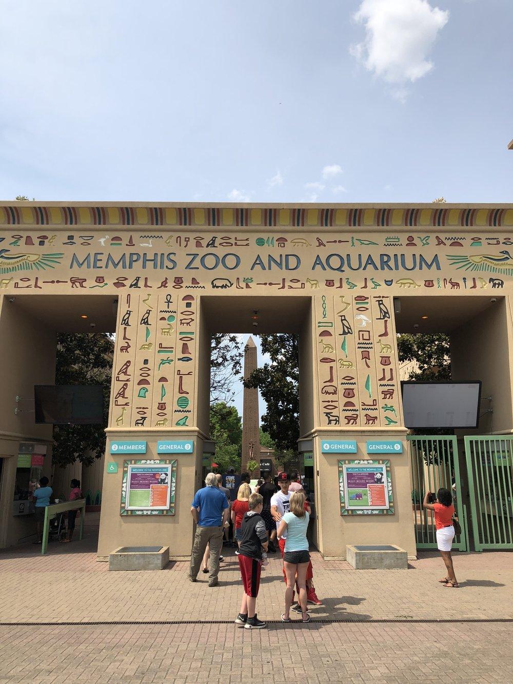 Entrance to Memphis Zoo!