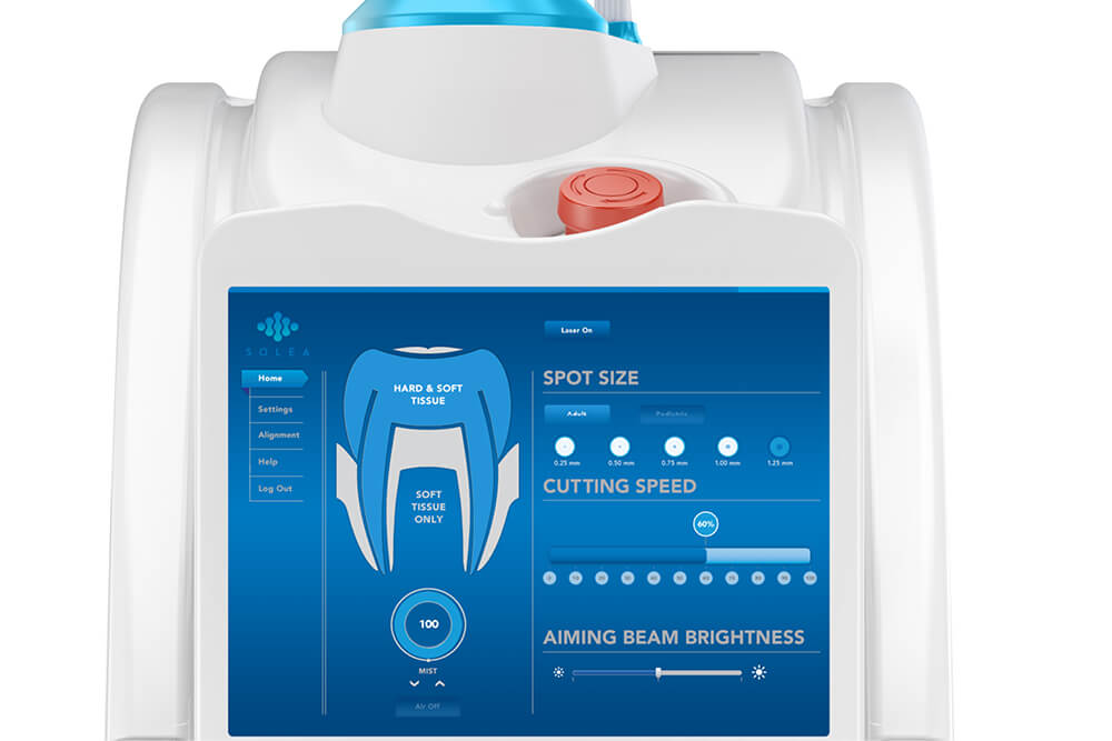 Laser Dentistry   The Solea® Dental Laser provides fast, precise, and anesthesia-free dentistry.   Learn More