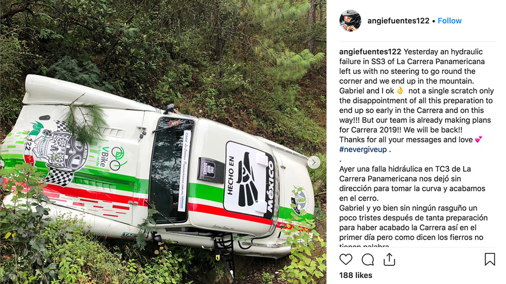 Even the top drivers had a hard time on Ixtlan stage of La Carrera 2018.