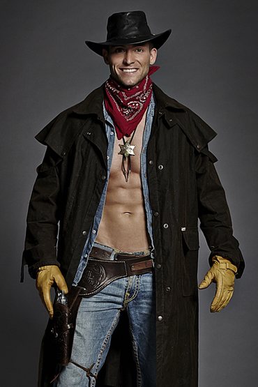 An example of a great cowboy themed costume.