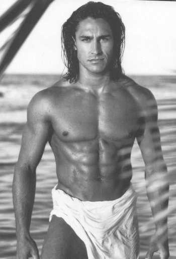 Male Stripper Jamie Durie in a Manpower photoshoot.