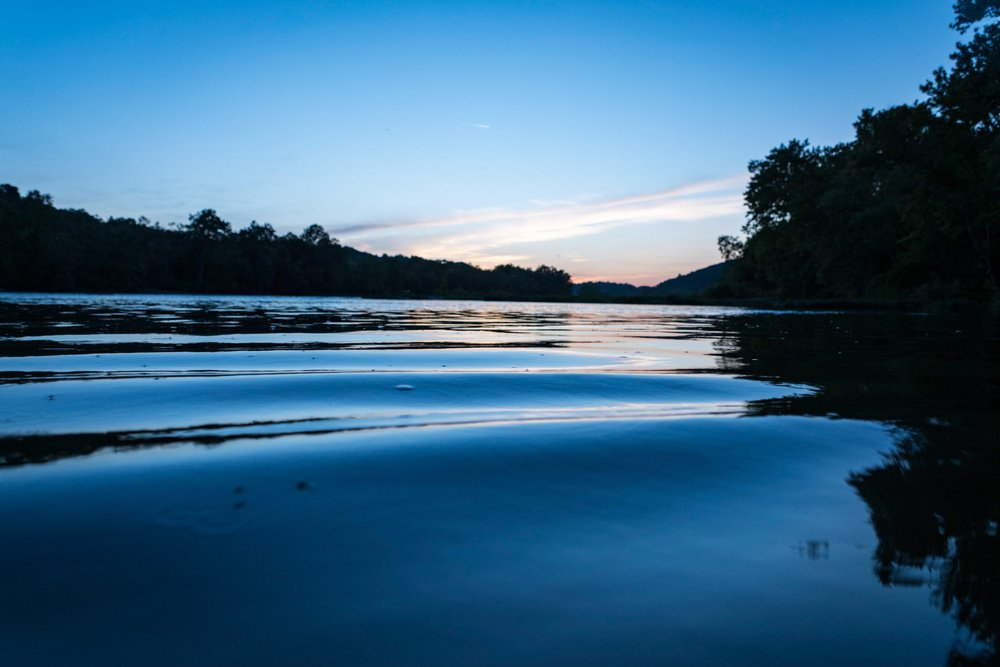 Potomac River near Harpers Ferry at Nautical Twilight
