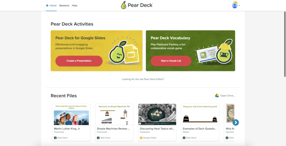 Weu0027ve Put The Two Most Helpful Actions Right At The Top: Create A New Deck  In Google Slides, Or A New Vocabulary List For Flashcard Factory.
