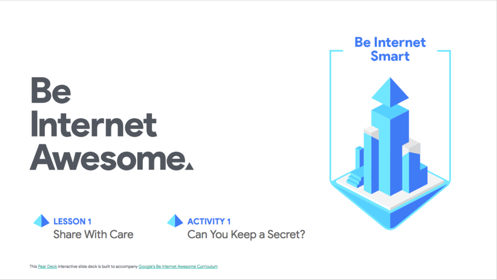 Ready to Be Internet Awesome? - Get the full set of resources and Pear Deck presentation files on Google's site