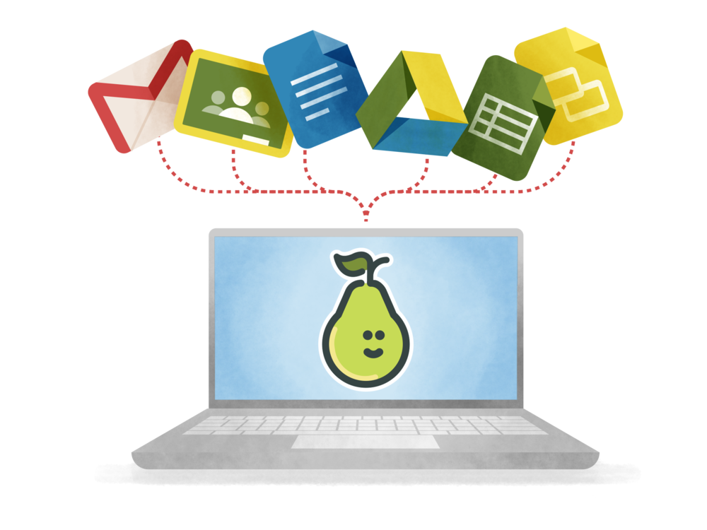 Built to work with Google - Pear Deck is built to work with G Suite for Education. Even better, Pear Deck is 100% web based and device agnostic—no downloads or updates required. Teachers and students log into Pear Deck with their Gmail address, files are auto-saved in Drive, and everything is integrated with Google Classroom. In short, Pear Deck is a perfect match for schools using G Suite.Get started with Google Slides