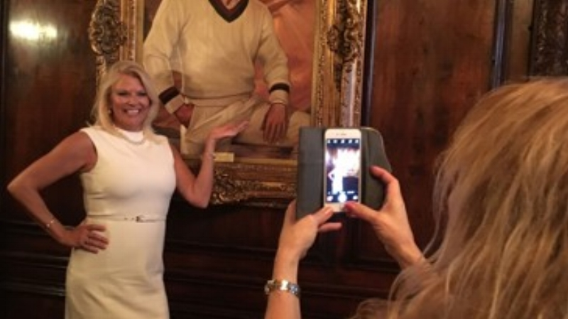 The portrait has become a tourist attraction since Trump announced his candidacy.