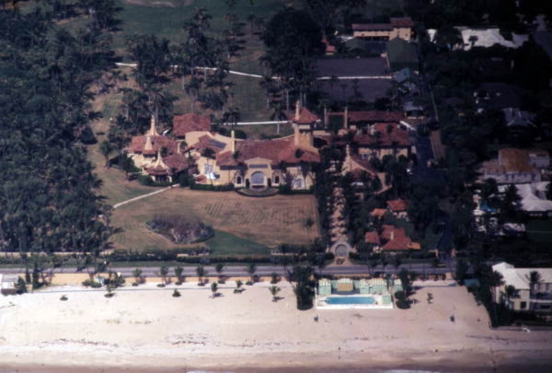 Fortune . Aerial view of the Mar-A-Lago mansion in Palm Beach, 1973, color slide. State Archives of Florida,  Florida Memory .