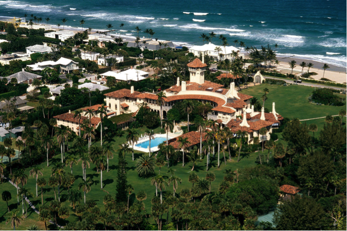 Aerial view of Mar-a-Lago from  Vanity Fair.