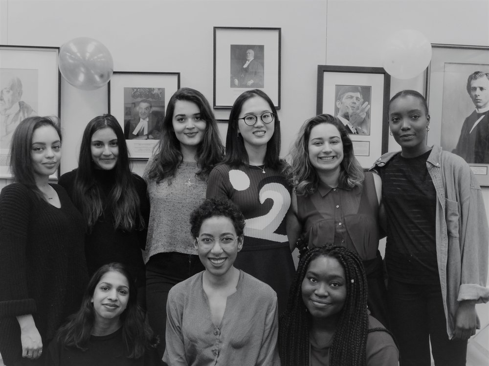 [2017 - 2018]  Back Row from Left to Right: Prudence Etkin, Sabrina Kholam, Dorna Zaboli, Zi Chen Gao, Souhila Baba, Mariam Sarr  Front Row from Left to Right: Natasha Goel, Marilou Craft, Rachelle Rose