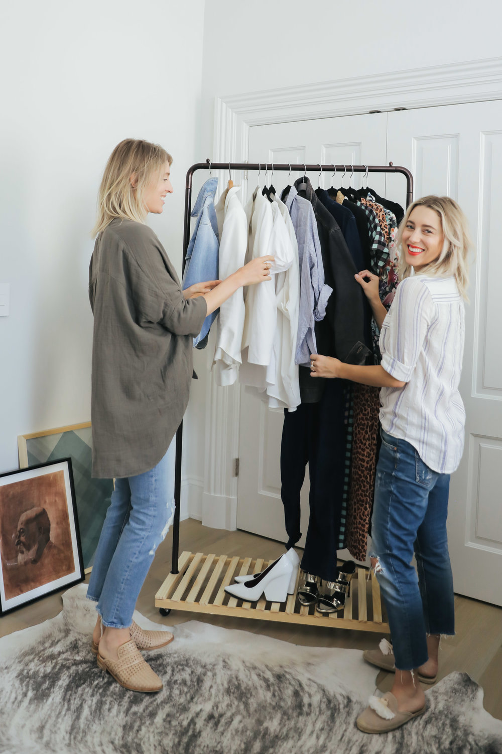 Initial Consult - This is probably the most crucial part of the whole process, but it's not scary, I promise! The initial consult is the first step towards creating your dream closet - one that is cohesive and works for you, not against you.We start by sitting down and chatting about your style goals, what's working for you and what isn't, and begin creating a customized plan specific to your needs and budget.