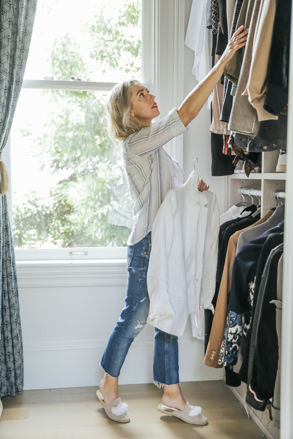 Closet Purge - Purging can be really emotional but in the end, very freeing for most clients. Just know that there is no pressure to get rid of anything if you aren't ready, but that by letting go of pieces that are no longer serving you, this allows room for growth and discovery of a style that fits who you are and want to be.