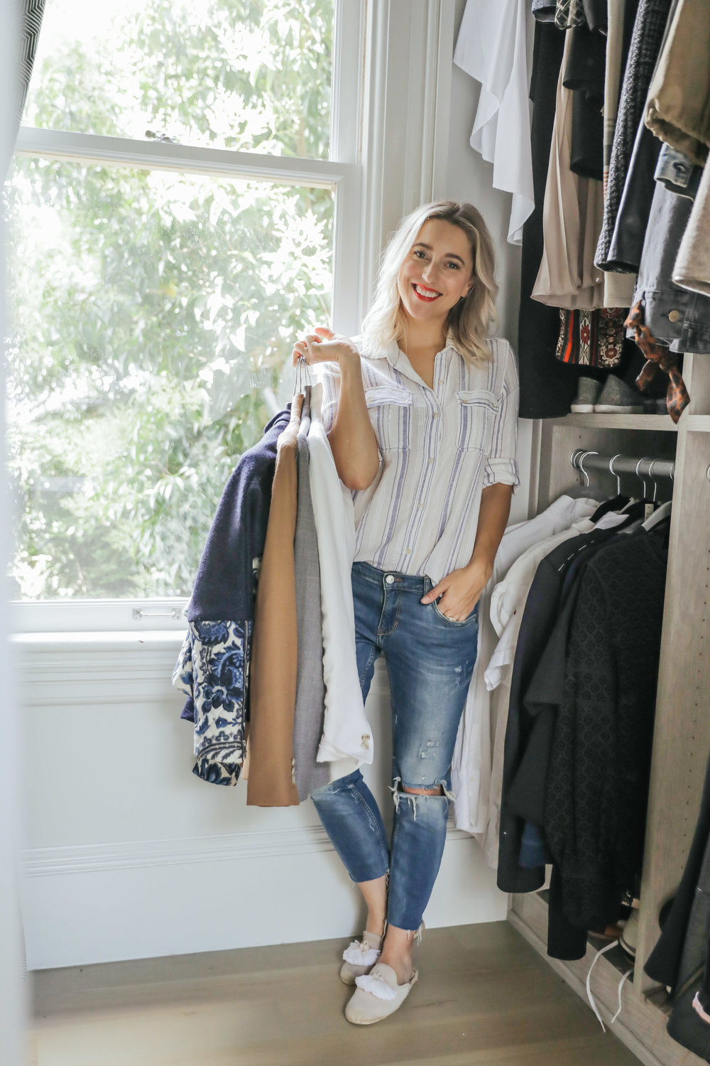 Shopping List - After we purge, your closet might feel a tad bare, but fear not! We will start by identifying the gaps and areas that are lacking and fill them with pieces that will make you feel amazing, represent your style and serve you in the best way possible.