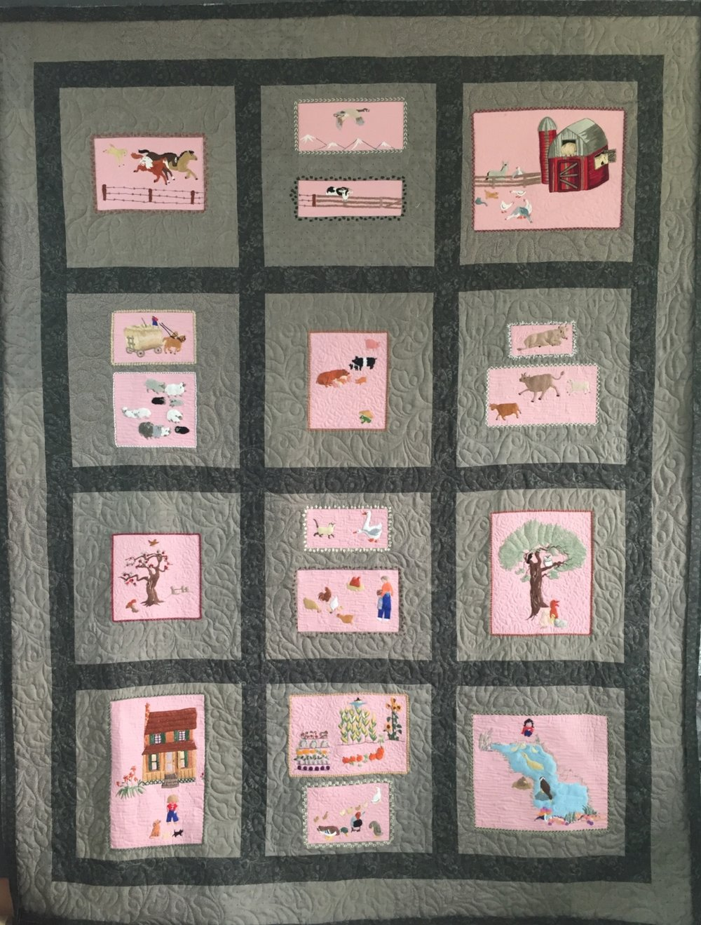 Embroidered quilt (Aug 2018)