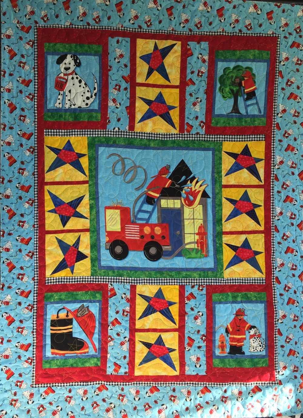 Fireman Baby quilt (Dec 2018)