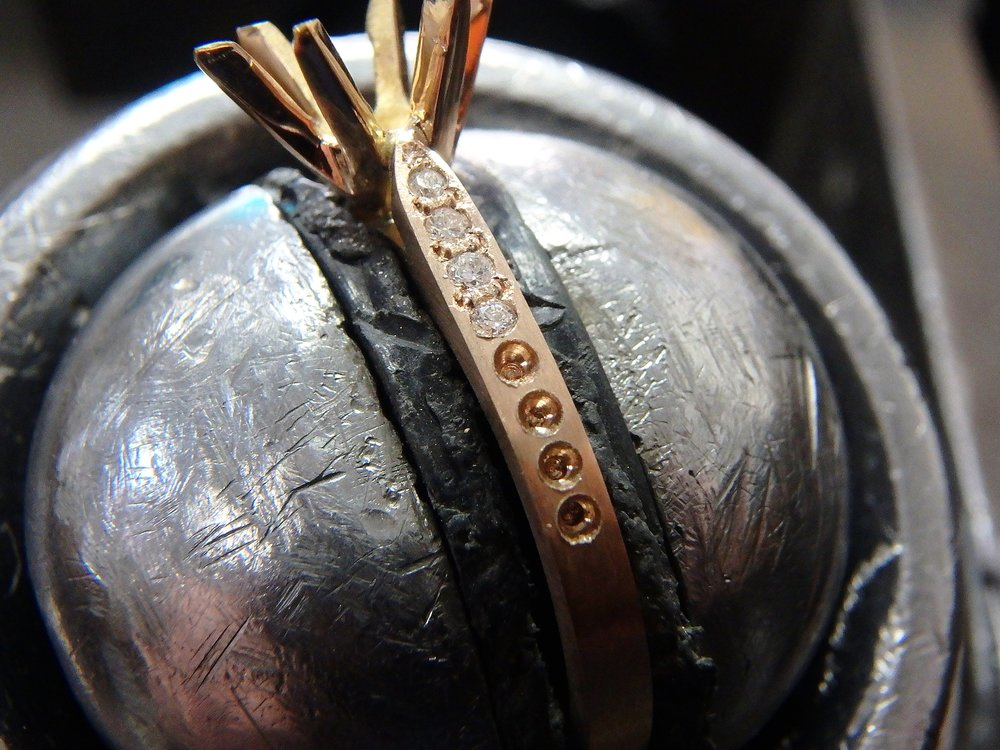 Work in progress... - All pieces are forged by artisan jewellers and each stone set by hand.