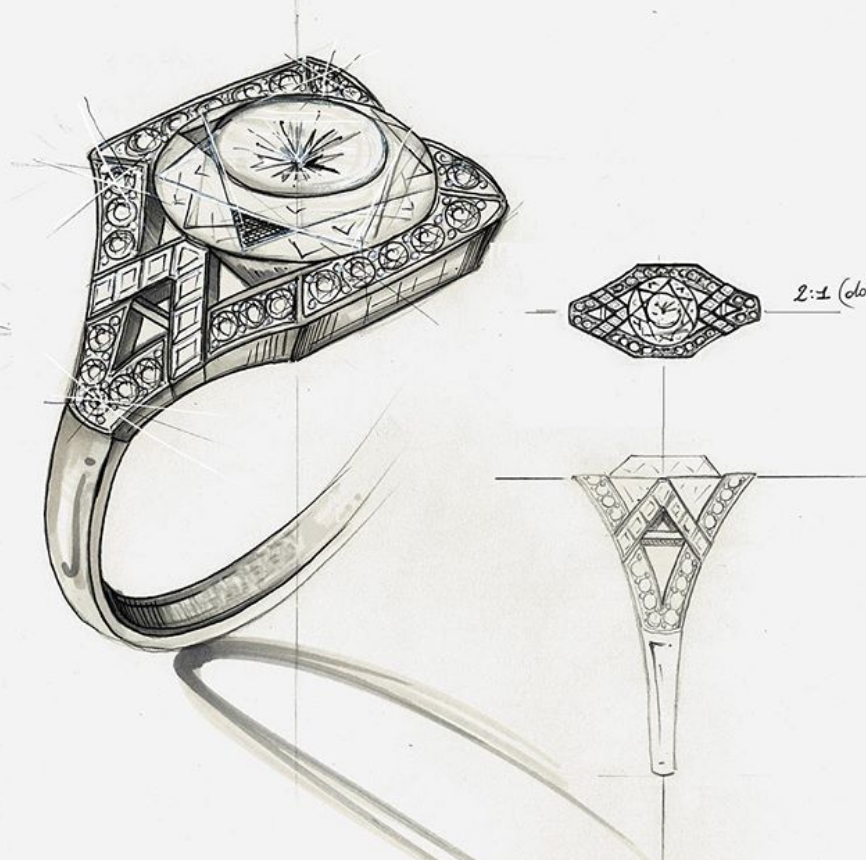 Start to finish... - Wynelle's engagement rings are drawn by our designerAnd handcrafted by our master jeweller.