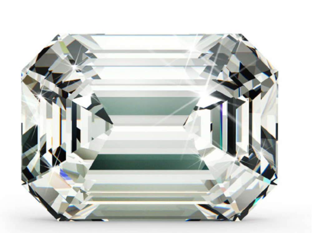 """Emerald Cut   Unlike the facets a brilliant cut can have to hide the inclusions, an Emerald cut has steep step cut faceting.This makes the diamond less sparkly and is the reason clarity is very important when picking this shape.The step cut creates flashes of light, known as hall of mirrors effect. Emeralds are also know as the """"honest cut"""" due to the disability to the incursions."""
