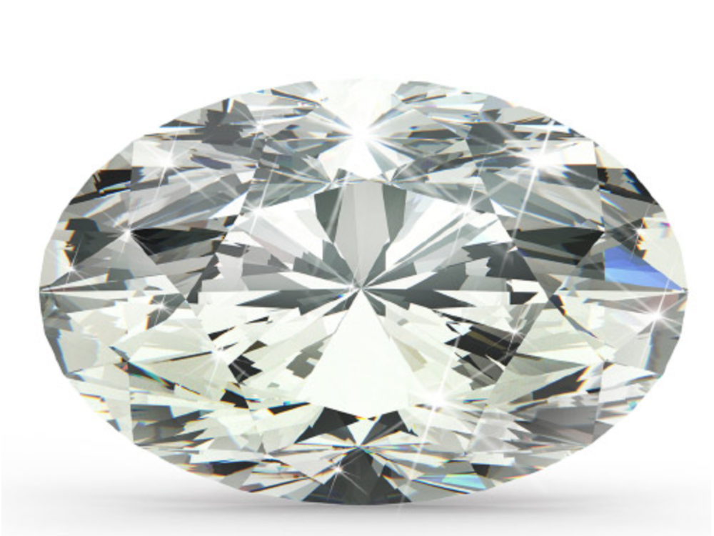 Oval Cut    Looking for a diamond with all the great attributes of a round shape, but with a bit of a twist? Go for the Oval Shaped Diamond. It's essentially a round brilliant diamond, just elongated. Thanks to its lack of depth, this diamond also is visibly larger in size which gives the illusion of a larger carat size.