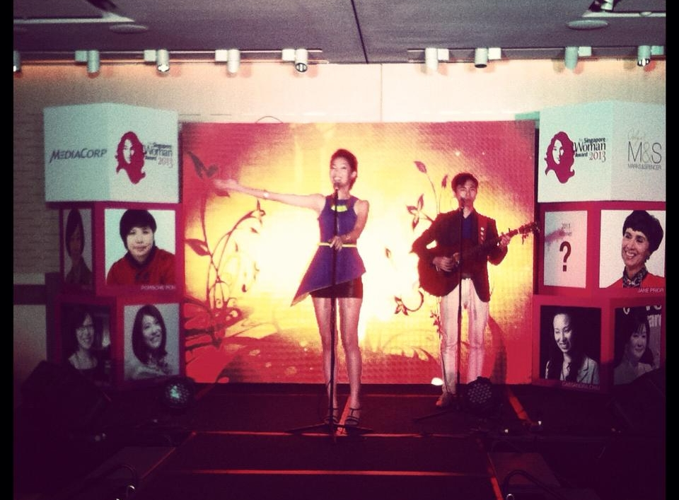 Featured Performance at Singapore Women Awards 2013