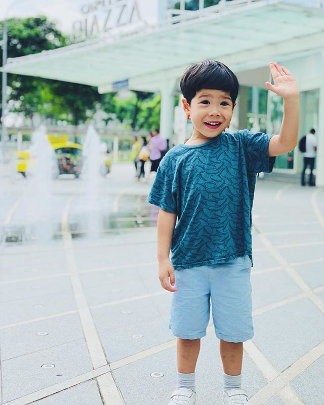 "🌟I love how this boy is a friend to all. He can make friends with the cleaner in our block, who he greets with a loud Good Morning, in the supermarket just sitting in the trolley he people coming up to talk to him because he's smiling at them, and these random strangers start complimenting him, and even had the Mcdonald's takeout Aunty give him a free Mr Men book (he didn't buy a meal!) just because he greeted her with a cheerful ""hi Aunty!!""... what's next for this boy??? #leondewinne #cutestboyever"