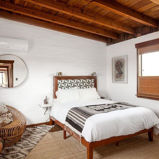 Lower House Bedroom, one of six uniquely styled rooms at @thehidesert #joshuatree