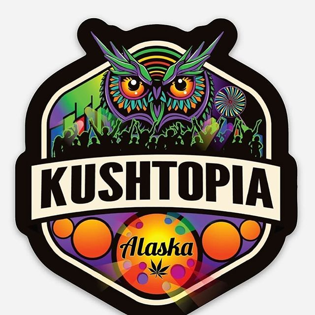 New limited edition @edc_lasvegas inspired stickers and buttons arrive today. Available @kushtopia_outpost tonight.