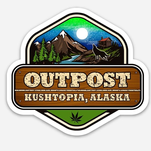 New @kushtopia_outpost Stickers and Buttons arriving tonight