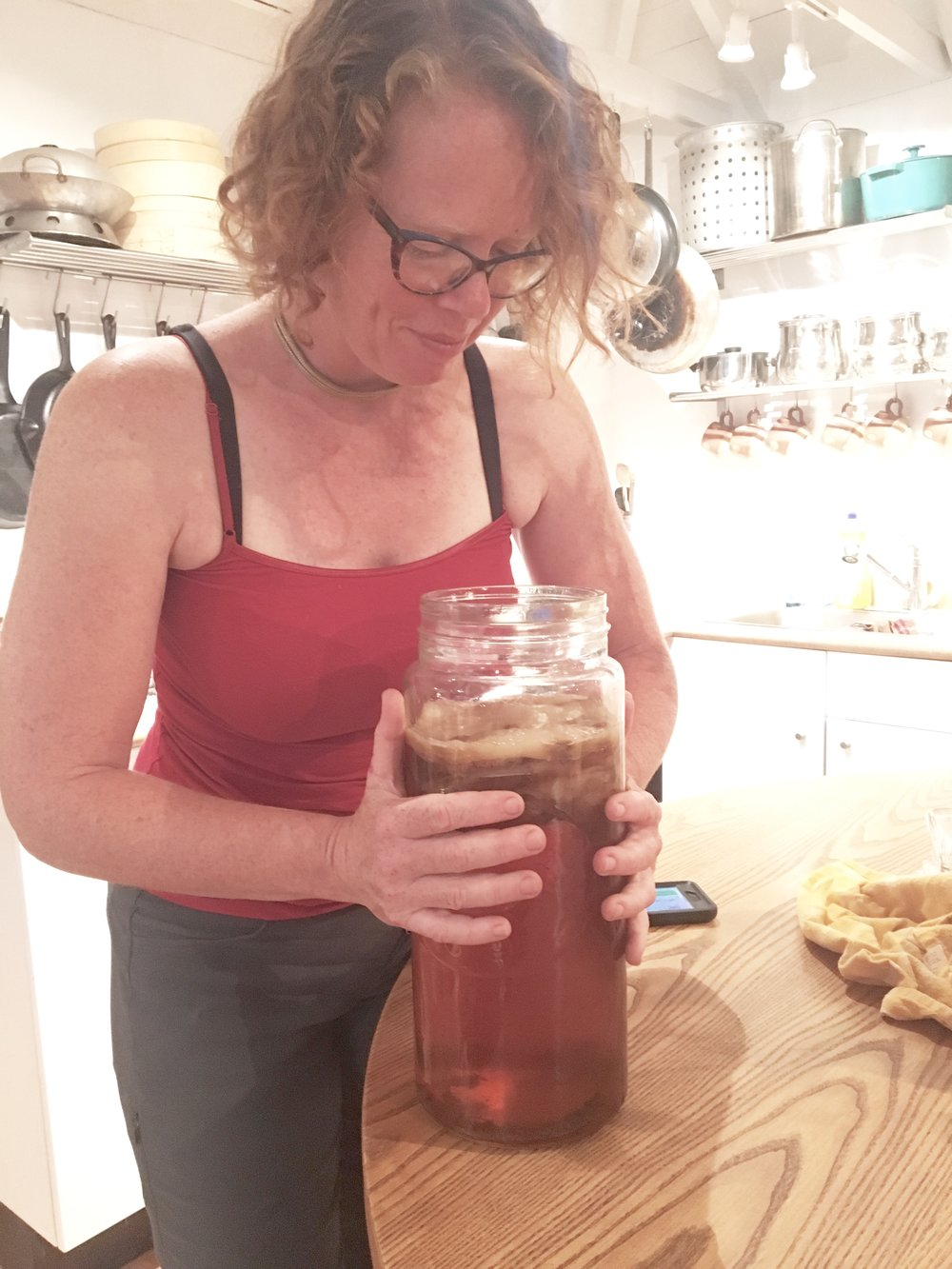 Chandra checking out the scoby action