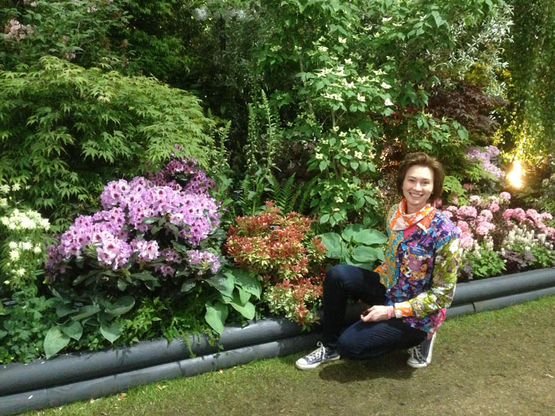 Gillian Goodson at The Royal Horticultural Society Chelsea Flower Show 2013