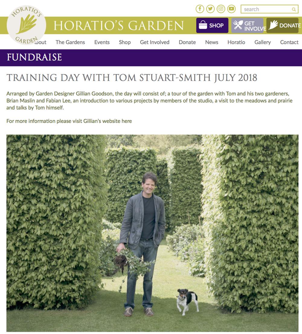 Horatio's Garden Fundraising Website