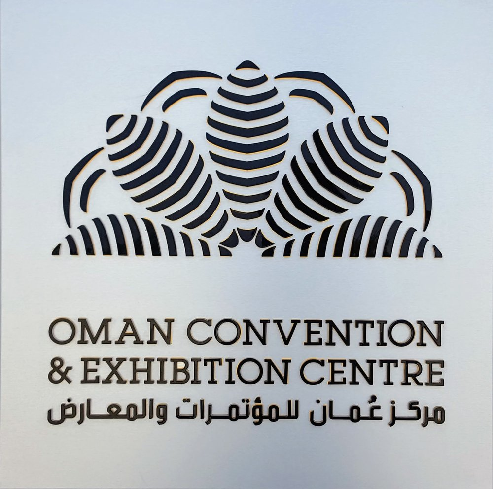 The shape of the OCEC logo echoes the turtle-influenced design of the main theatre's roof
