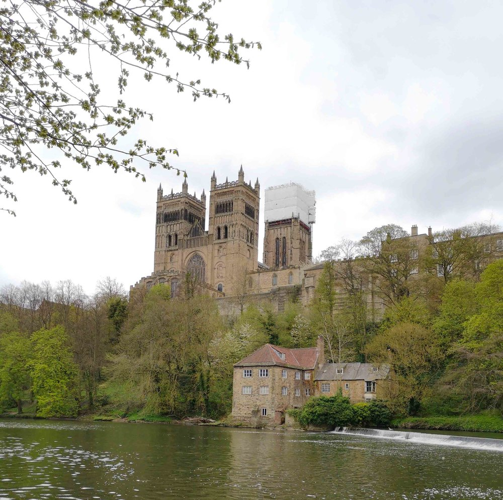 The Old Fulling Mill sited at one end of the weir and below Durham Cathedral