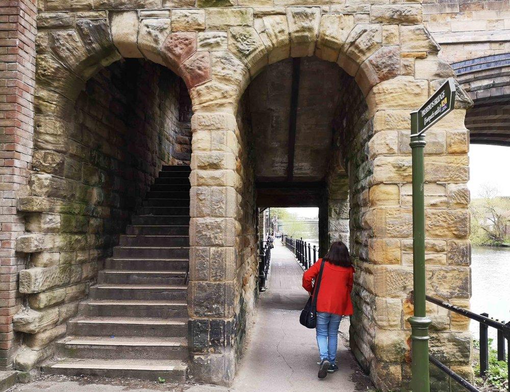 Durham river walk Bernadine and bride underpass