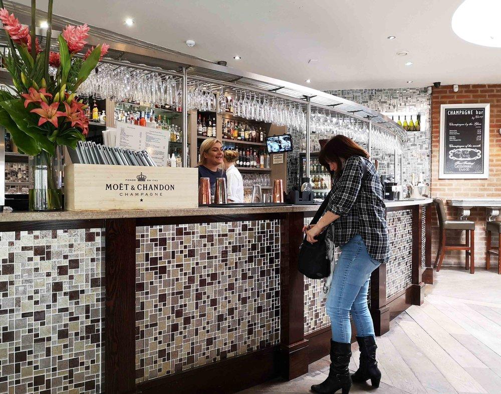 Bernadine's round at the Champagne Bar