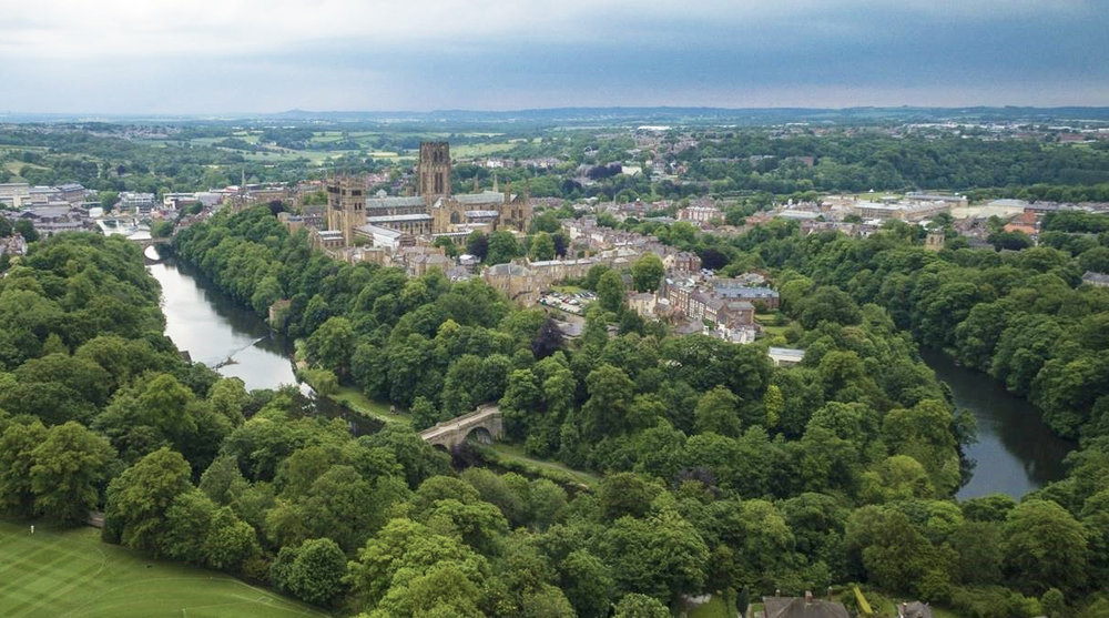 Aerial photo of Durham Cathedral by Nick Martin, extracted from the Durham Cathedral website listed below