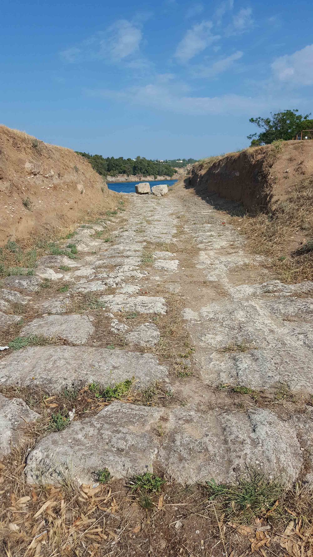 A small part of the Ancient Diolkos as it tracks northwards