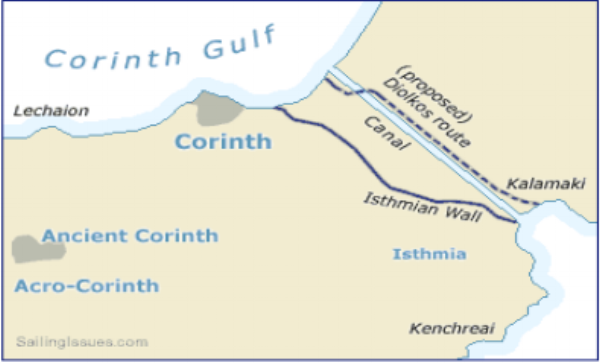 Map from http://www.sailingissues.com/corinth-canal-diolkos.html