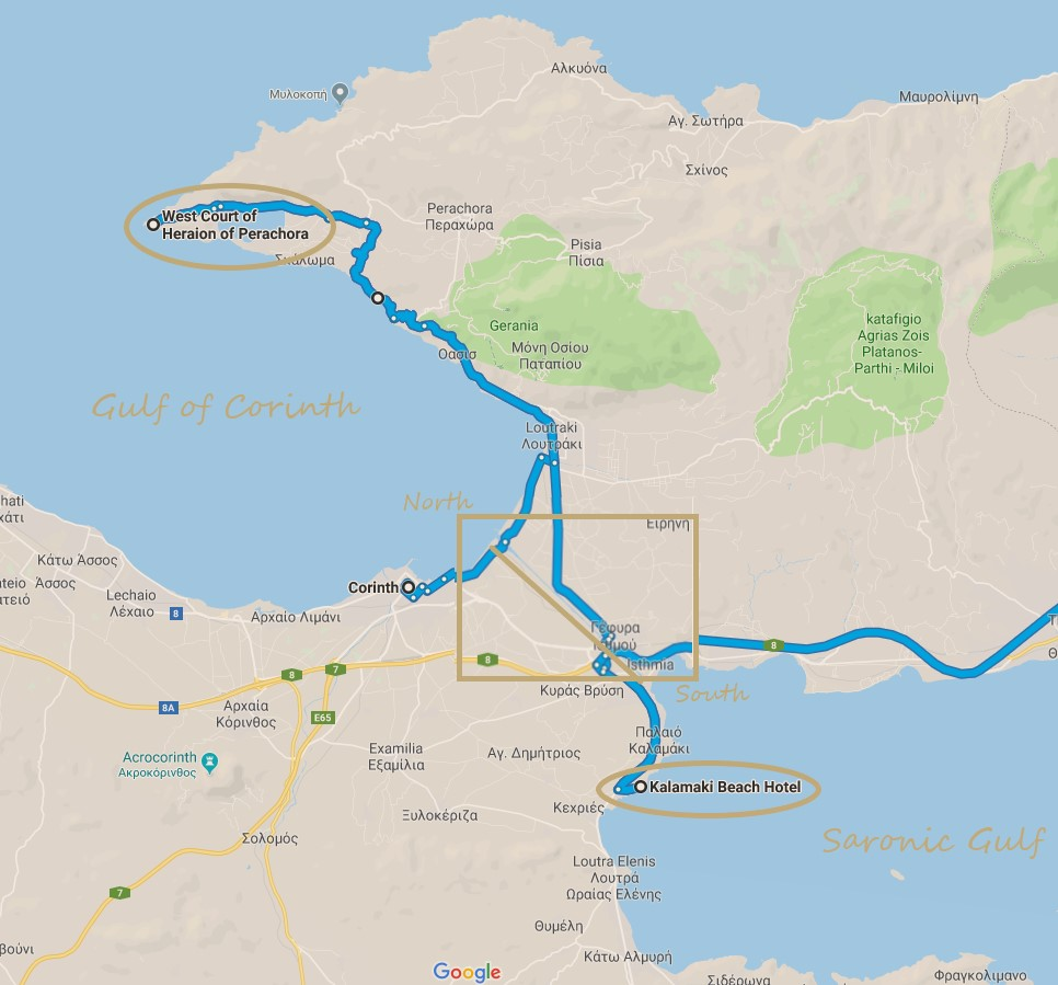 Tripographer route across the Corinth Canal.jpg