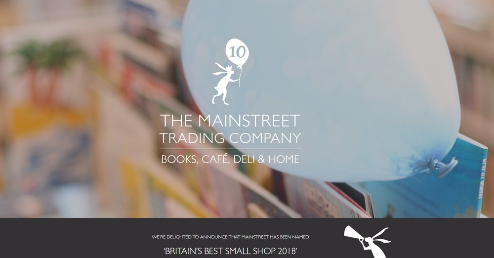 The Mainstreet Company's website home page: Britain's Best Small Shop 2018