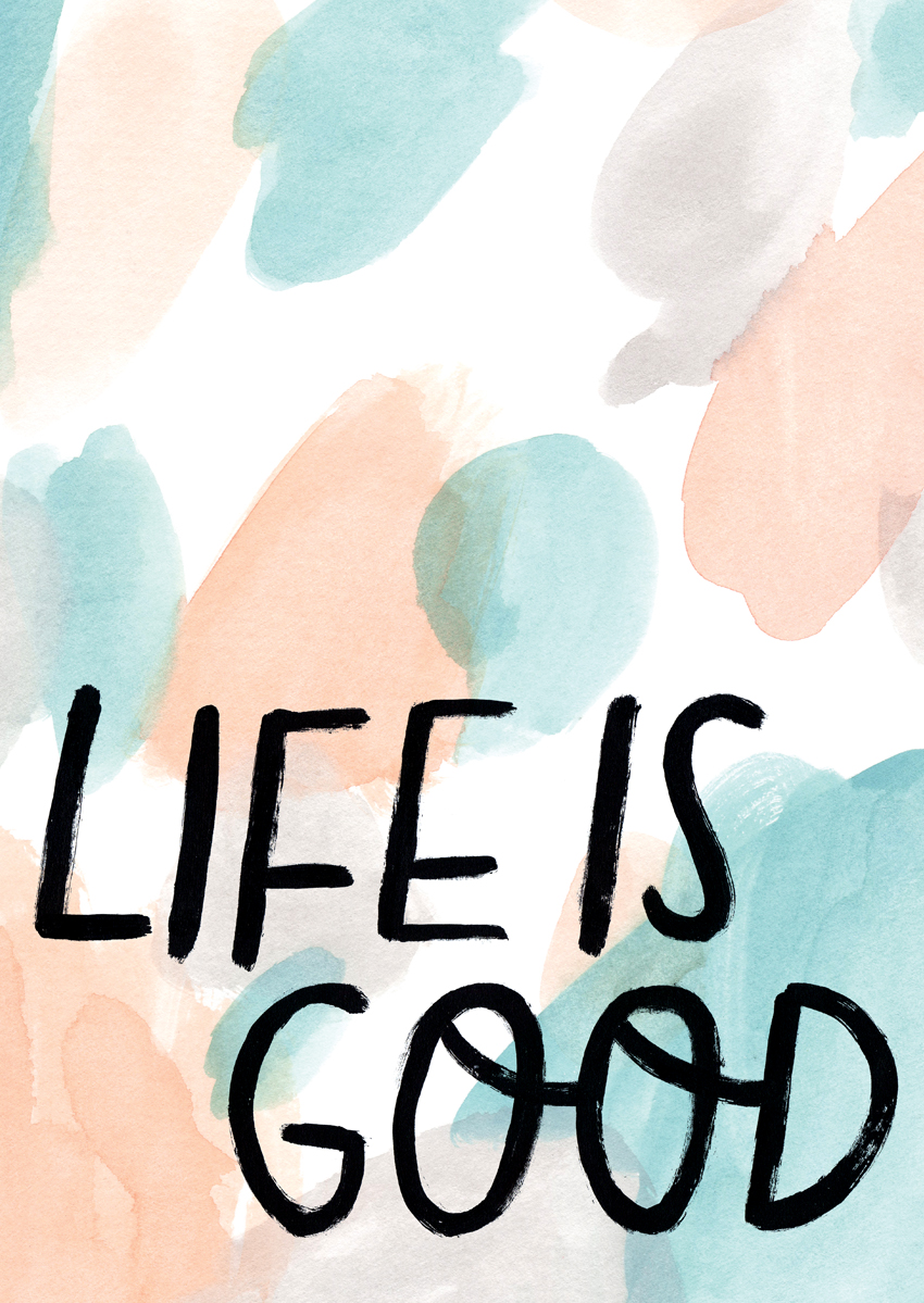 Life is Good illustrated poster, licensed by Urban Outfitters