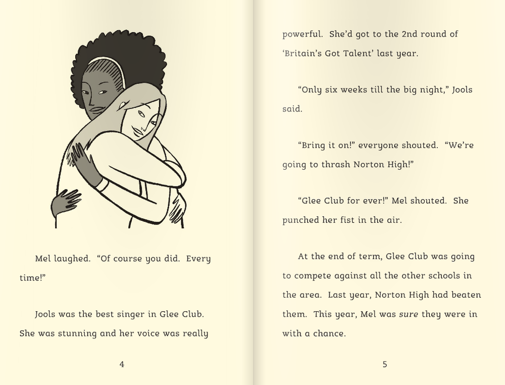 Illustration from Glee Club, published by Barrington Stoke