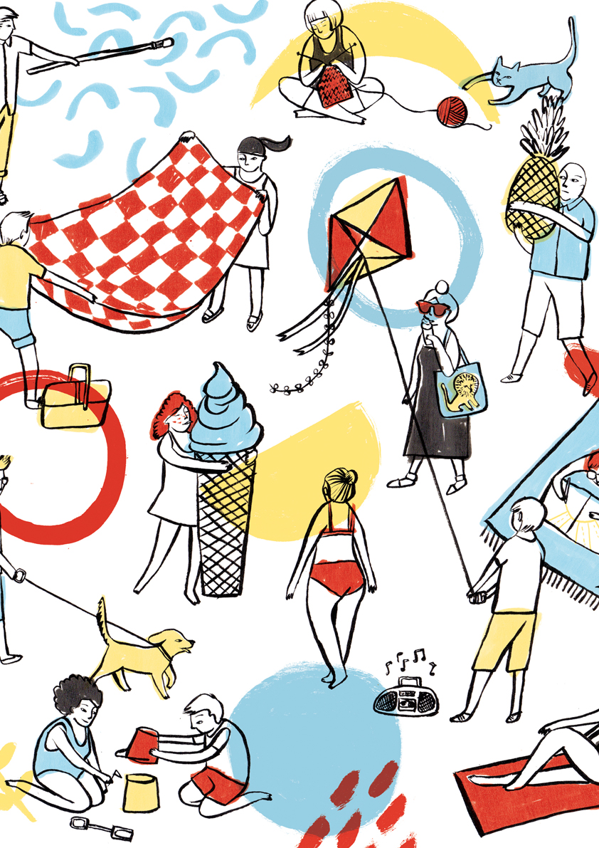 Cropped detail of DCA Summer Market poster