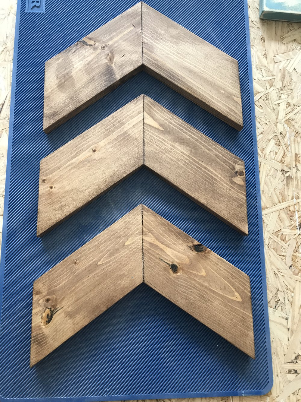 Stained Chevron Wall Decor