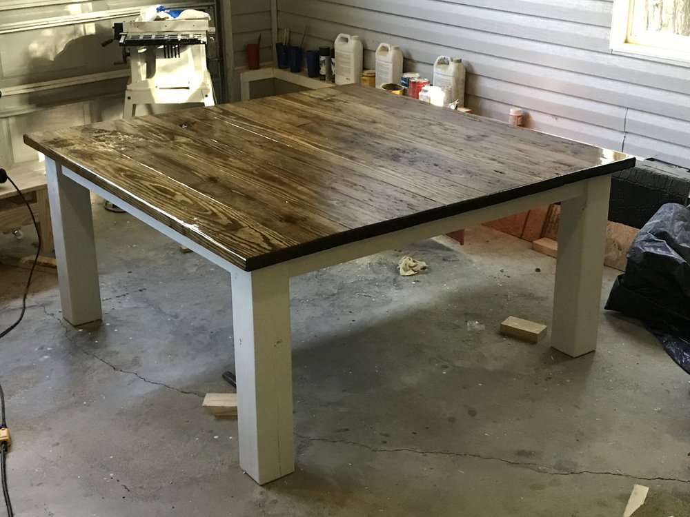Chunky Farmhouse Table