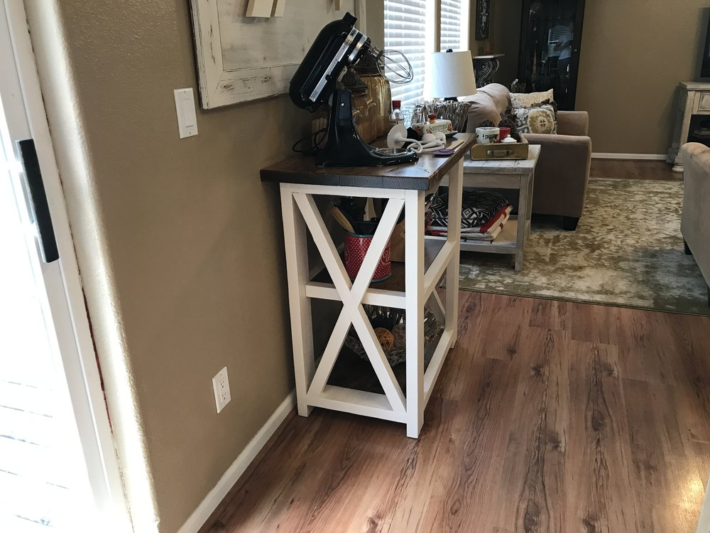 X Table Kitchen Cart