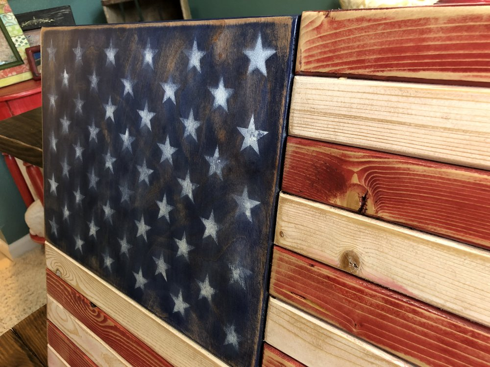 distressed american flag office decor.JPG