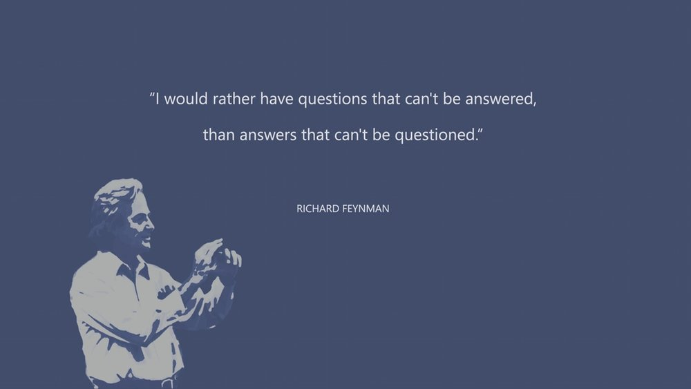 Feynman - Questions that cannot be answered