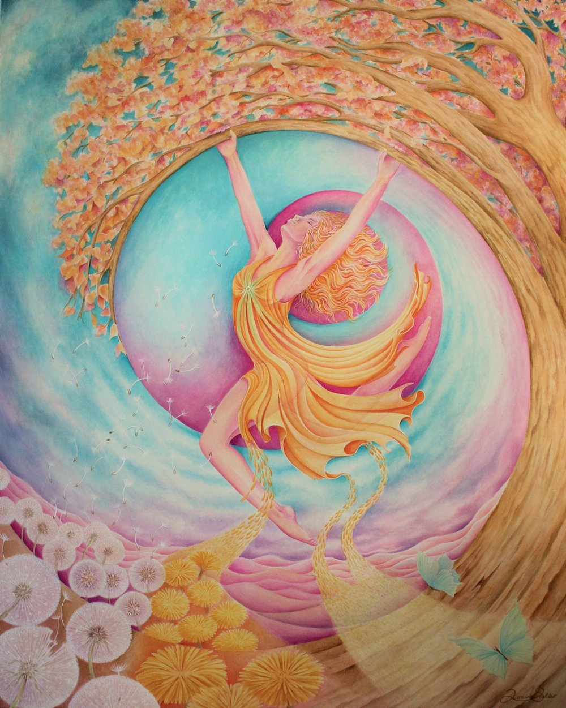 "24 x 30"" Gouache on Watercolour Paper"
